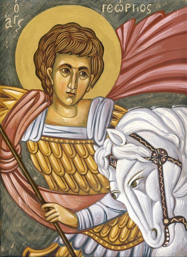 Święty George, ażio Georgios/ ilustracji