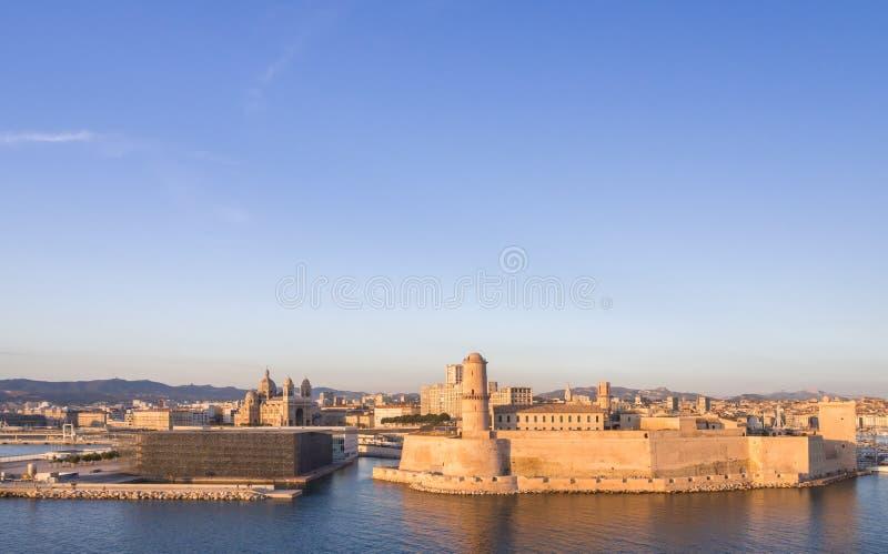 Święty Jean Grodowy, Katedralny De Los angeles i ja Specjalizujący się i Vieux port zdjęcia stock