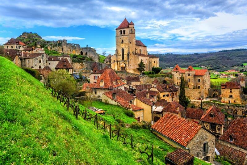 święty, jeden piękne wioski Francja obraz royalty free