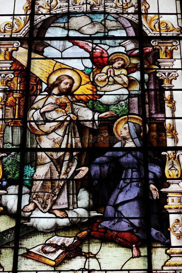 Święty Kierowy andSt Margaret Mary Alacoque obraz royalty free