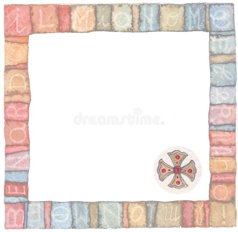 Święty krzyż: loga pomysłu akwareli ilustracje royalty ilustracja