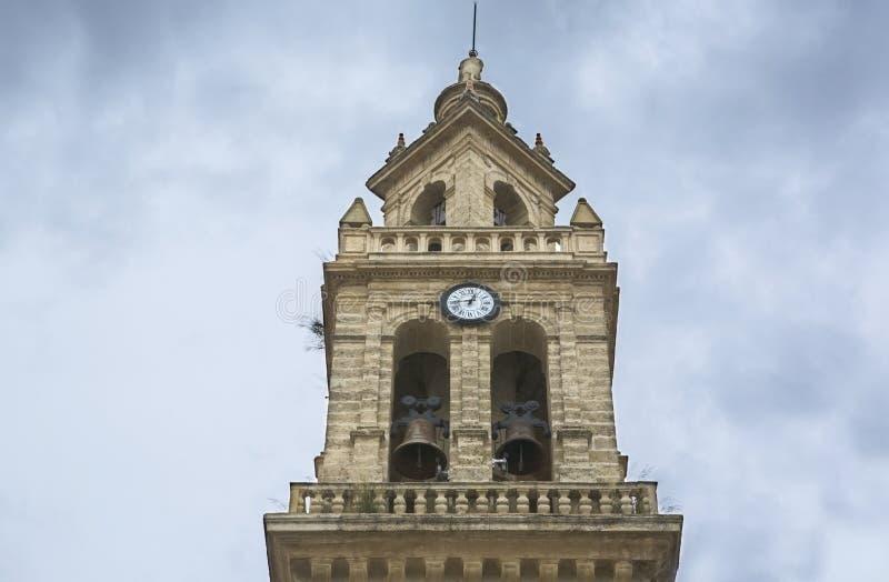 Święty Lawrance Kościelny Bellfry, Hiszpania fotografia royalty free