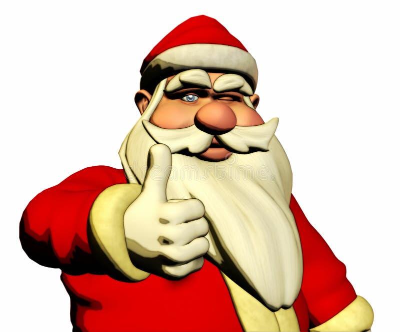 Święty Mikołaj życzy szczęście i mrugnięcie royalty ilustracja