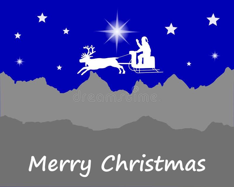 Święty Mikołaj życzy Szczęśliwych boże narodzenia ilustracji