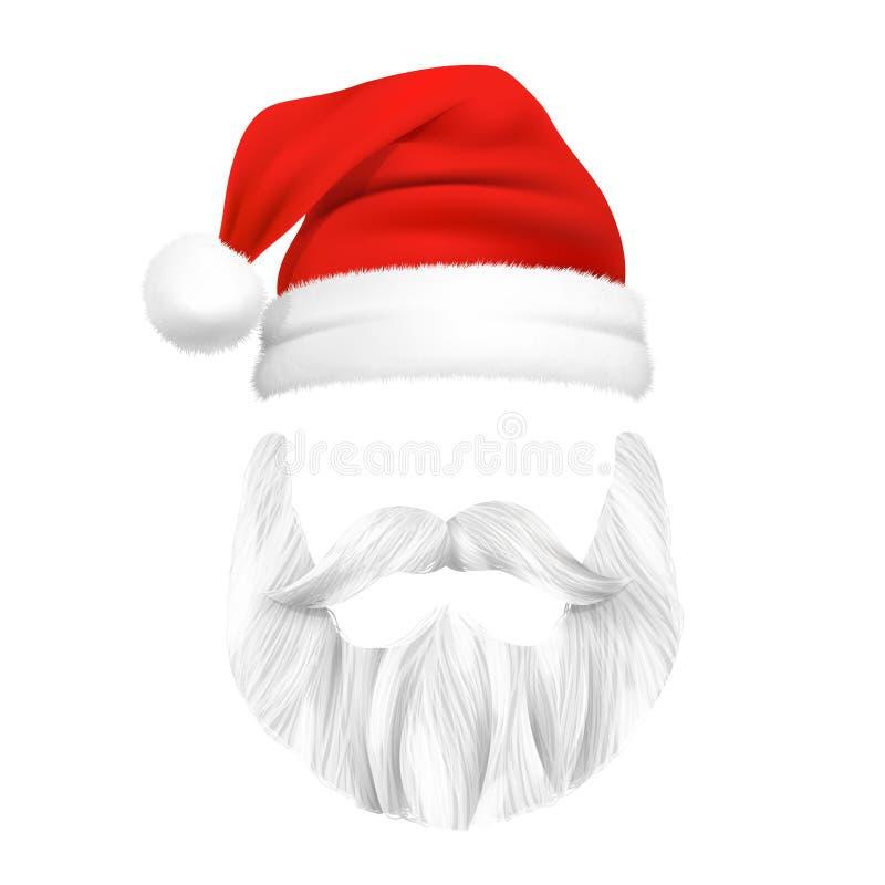 Święty Mikołaj bożych narodzeń maska ilustracja wektor