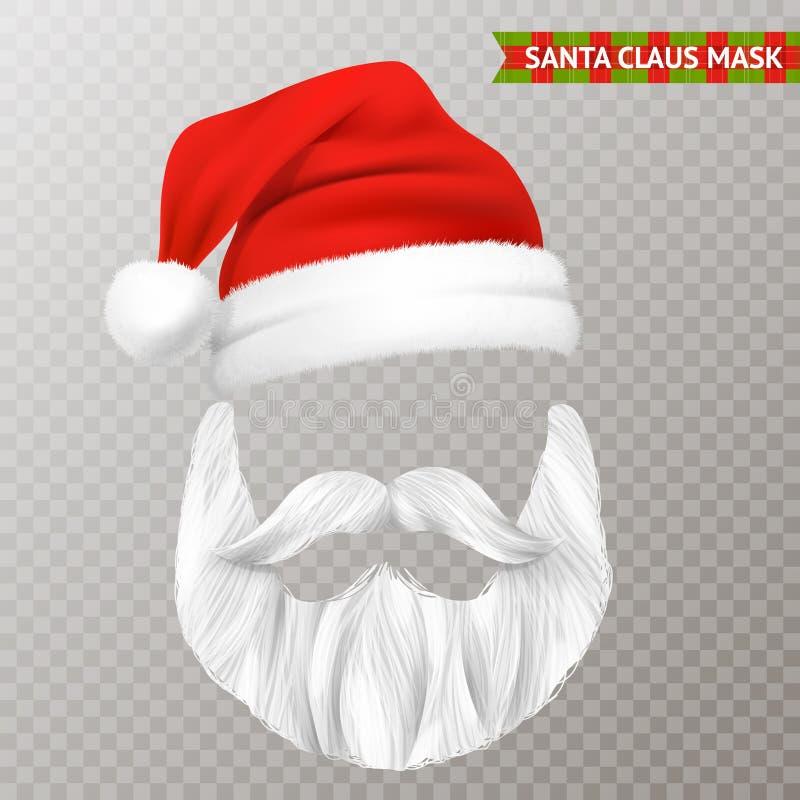 Święty Mikołaj bożych narodzeń Przejrzysta maska royalty ilustracja