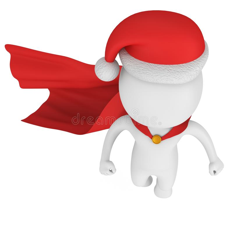 Święty Mikołaj bohatera Odważny latanie ilustracji