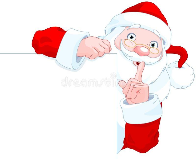 Święty Mikołaj chwyty Śpiewają ilustracji