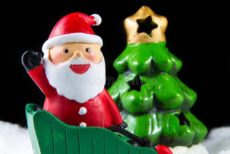 Święty Mikołaj dostarcza szczęście w święto bożęgo narodzenia fotografia stock