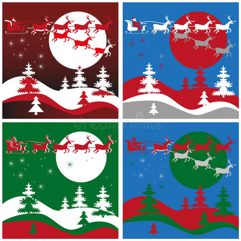 Święty Mikołaj i renifer ilustracja wektor