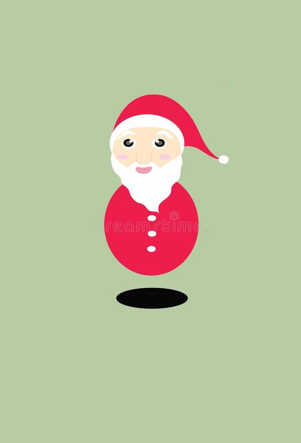 Święty Mikołaj Maryjna Bożenarodzeniowa kreskówka zdjęcia stock