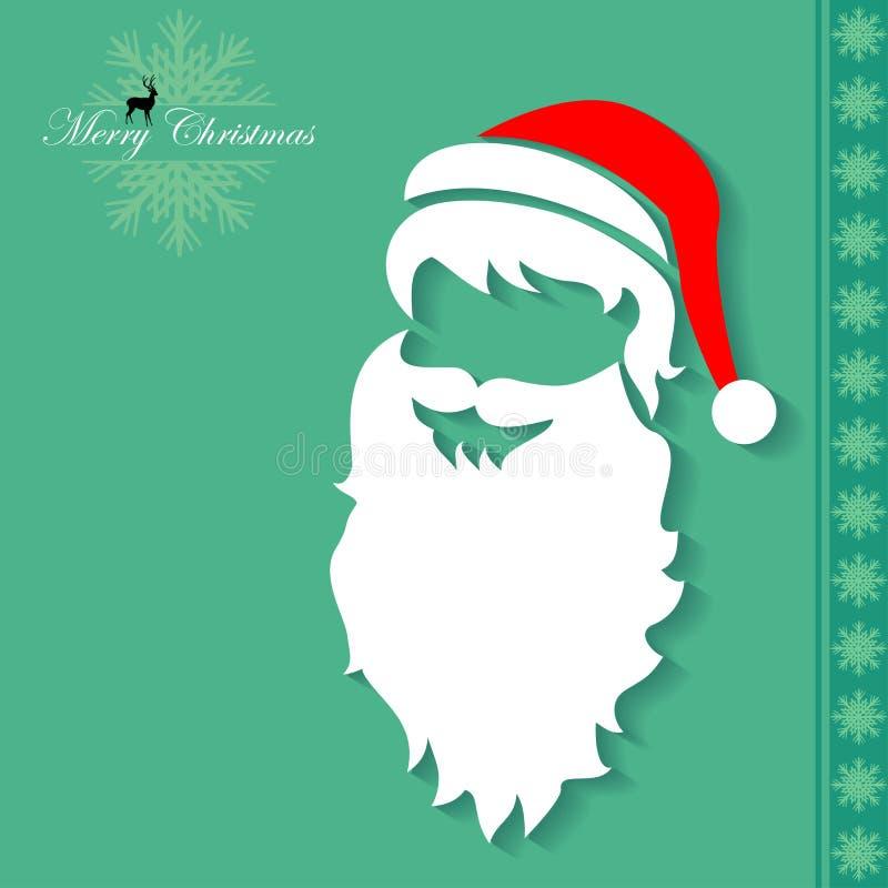 Święty Mikołaj maska ilustracja wektor