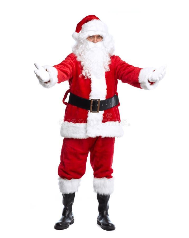 Święty Mikołaj odizolowywał na bielu. obrazy stock