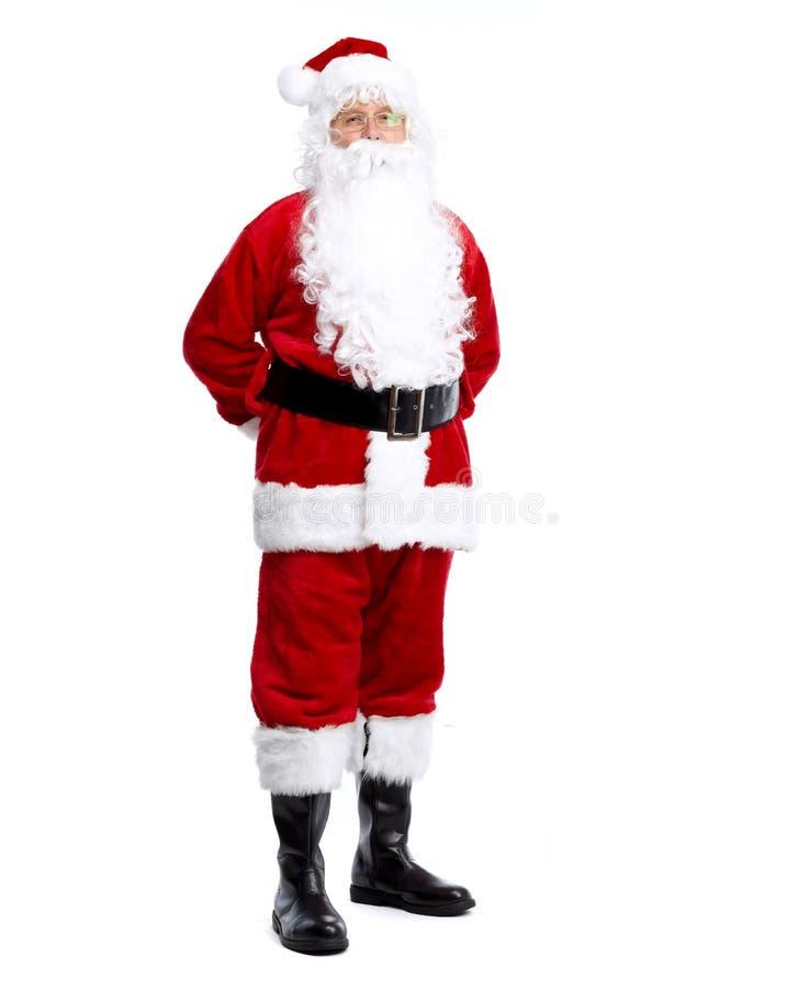 Święty Mikołaj odizolowywał na bielu. zdjęcie royalty free