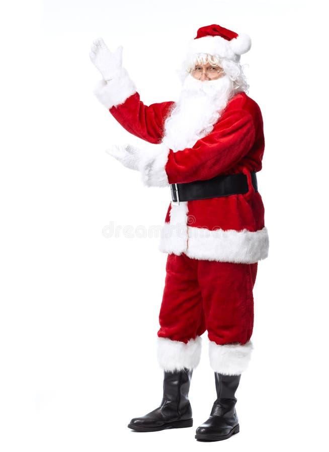 Święty Mikołaj odizolowywał na bielu. fotografia royalty free