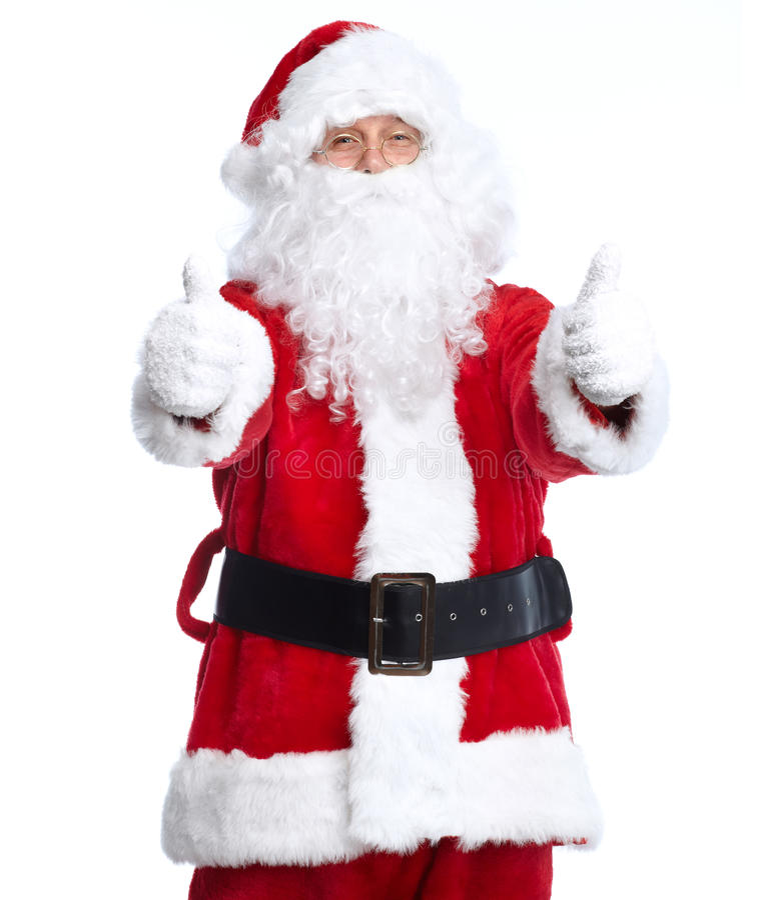 Święty Mikołaj odizolowywał na bielu. zdjęcia royalty free