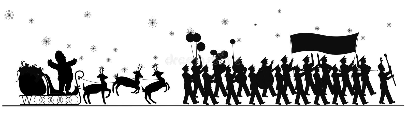 Święty Mikołaj parada royalty ilustracja