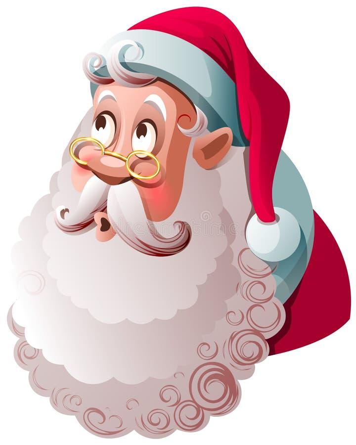 Święty Mikołaj patrzeje w górę niespodzianki w Wesoło bożych narodzeń śmieszny charakter ilustracji
