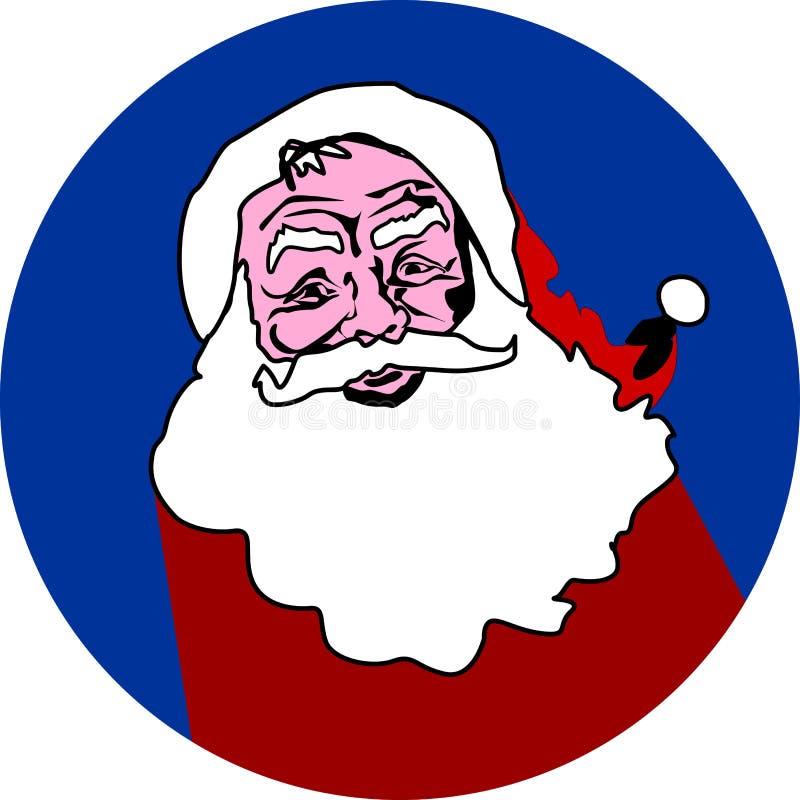 Święty Mikołaj projekta płaska ikona ilustracja wektor