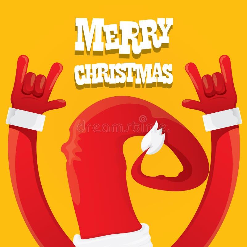 Święty Mikołaj skały n rolki gesta ikony wektor royalty ilustracja