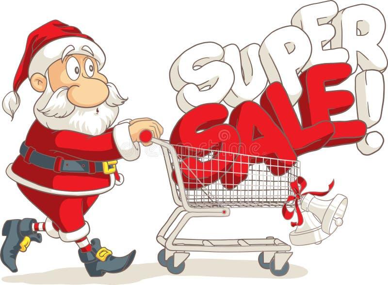 Święty Mikołaj sprzedaży wektoru Super kreskówka royalty ilustracja