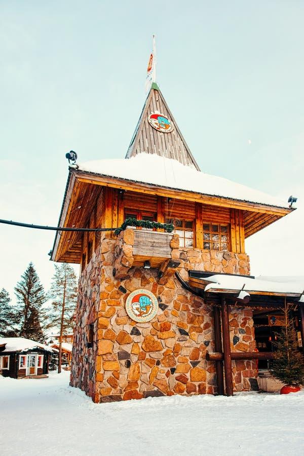 Święty Mikołaj urzędu pocztowego Święty Mikołaj Główna wioska Lapland zdjęcia stock