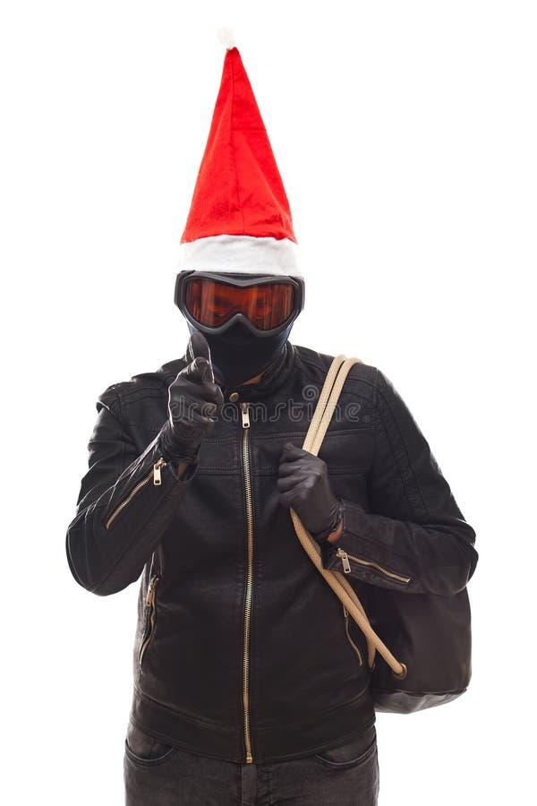 Święty Mikołaj włamywacz fotografia stock