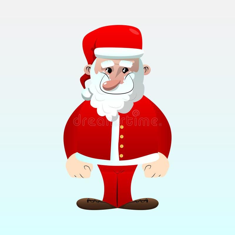 Święty Mikołaj w jego czerwieni ubraniach z białej brody pozycją ilustracji
