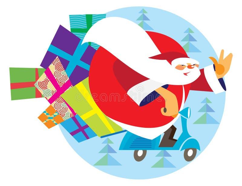 Święty Mikołaj w Włochy dzwonił Babbo Natale ilustracji