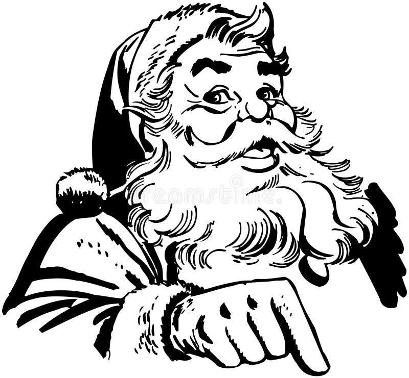 Święty Mikołaj Wskazywać ilustracja wektor
