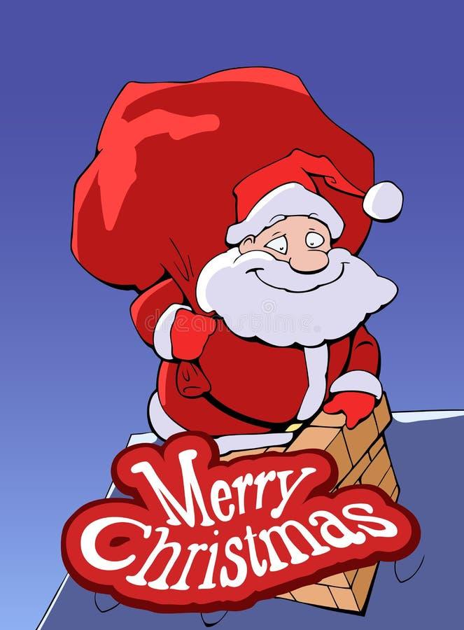 Święty Mikołaj wspinaczkowy puszek komin ilustracji