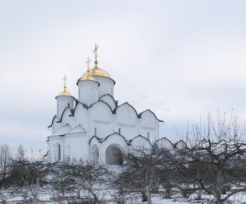 Święty ochrona klasztor w Suzdal Pokrovsky kobiet ` s monaster w zimie Suzdal Rosja fotografia royalty free