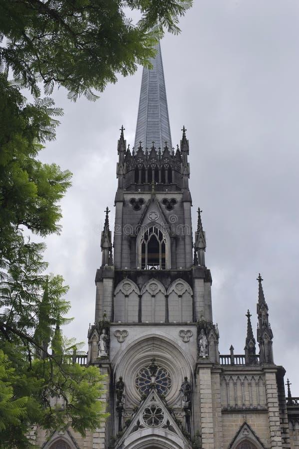 Święty Peter Alcantara katedra w Petropolis, Rio De Janeiro zdjęcie stock