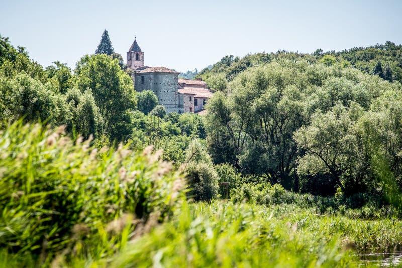 Święty Peter w Lamosa monasterze Provaglio Lombardy Włochy obrazy stock