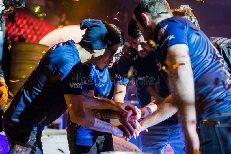 ŚWIĘTY PETERSBURG ROSJA, PAŹDZIERNIK, - 29 2017: EPICENTRUM kontuaru strajk: Globalny Obrażający cyber wydarzenie sportowe brazil obraz royalty free
