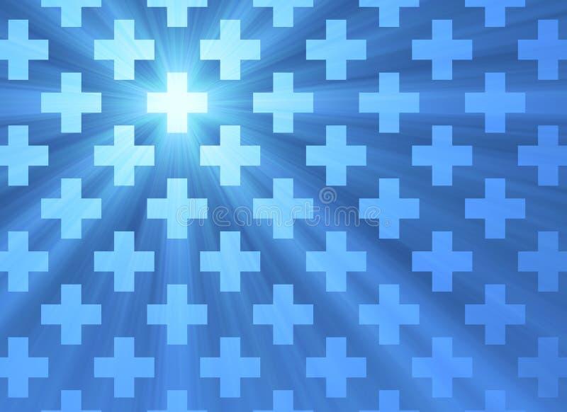 Święty przecinający błękita światła tło ilustracji