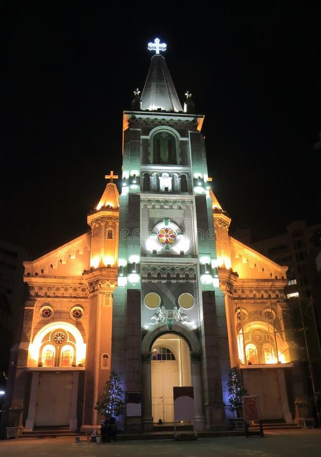 Święty Różańcowy Katedralny Munor Basikica kościelny Kaohsiung Tajwan zdjęcia stock