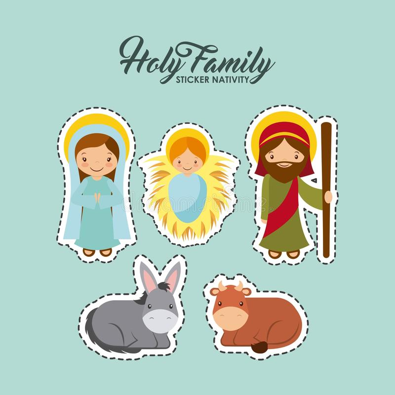 Święty rodzinny projekt ilustracja wektor