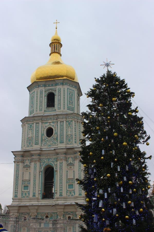 Święty Sophia& x27; s katedra, Kievand choinka obrazy royalty free