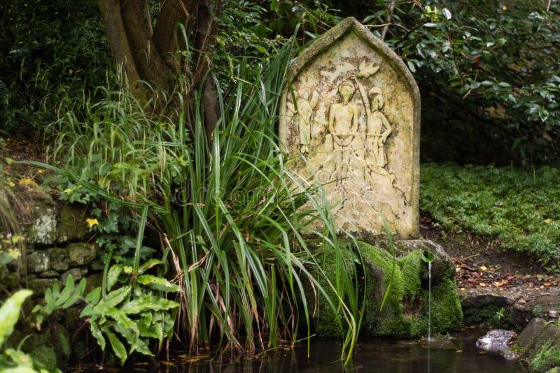 Święty well i wiosna przy St Mary kościół, Charlcombe zdjęcia royalty free