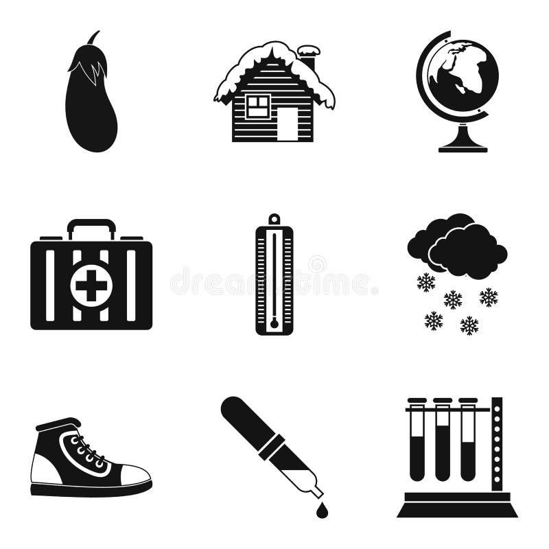 Świadczenia zdrowotne ikony ustawiać, prosty styl ilustracji