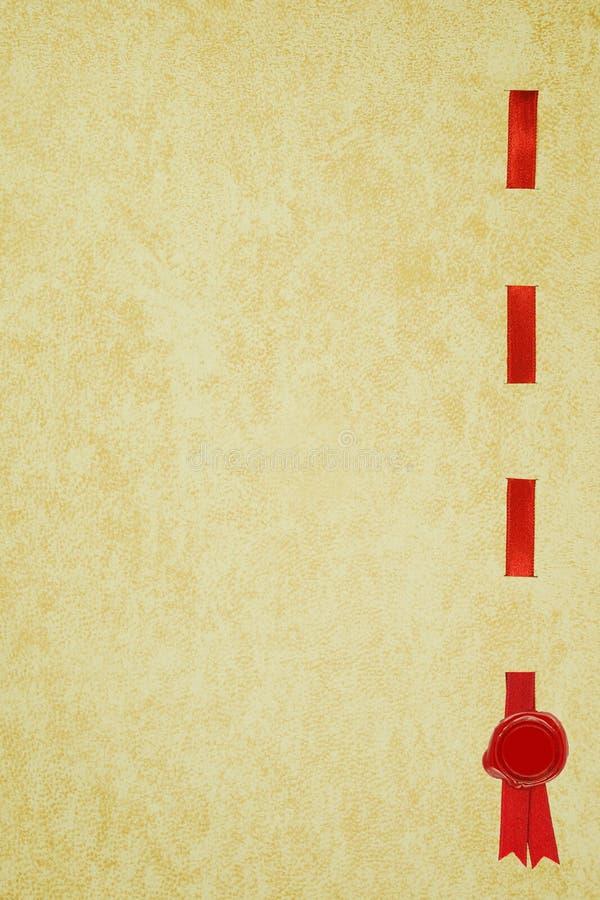 świadectwa dyplomu tasiemkowy foki wosk obrazy stock
