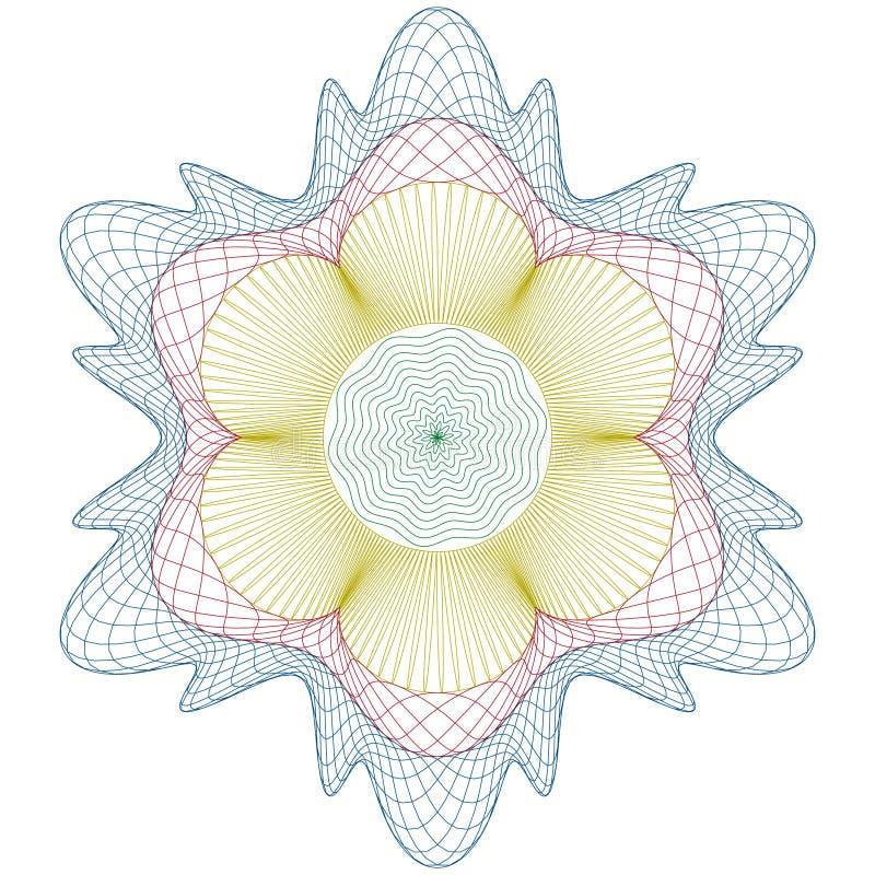 świadectwa guilloche wzoru różyczka ilustracji