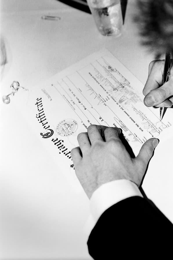 świadectwa małżeństwa zdjęcia stock