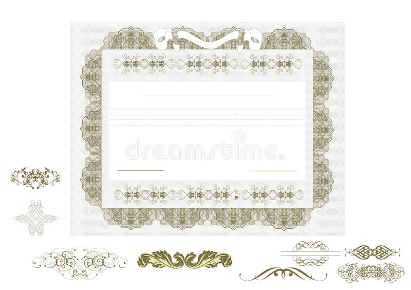 Świadectwo lub talon dla projekta royalty ilustracja