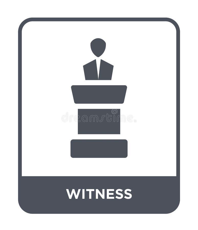 świadek ikona w modnym projekta stylu świadek ikona odizolowywająca na białym tle poświadcza wektorowego ikona prostego i nowożyt royalty ilustracja