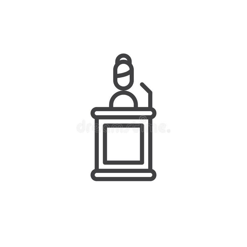 Świadek kreskowa ikona ilustracja wektor