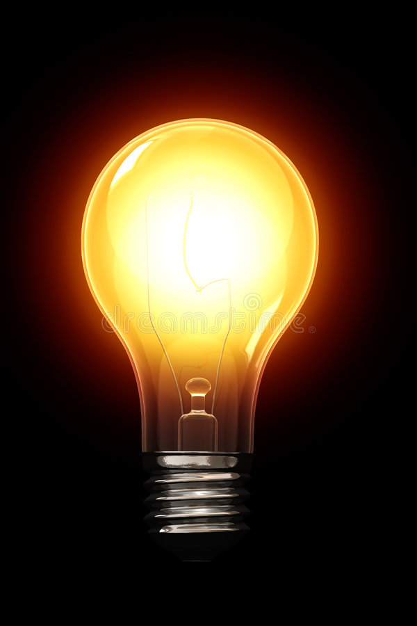 światła żarówki ilustracja wektor