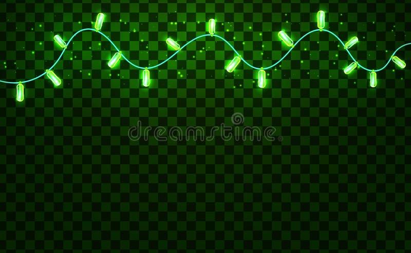 Światła dla Świątobliwego Patrick przyjęcia Zielony tło ilustracja wektor
