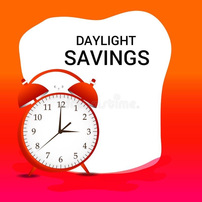 Światła dziennego oszczędzania czas ilustracja wektor